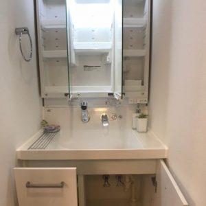 画像:独立洗面台(収納オープン)